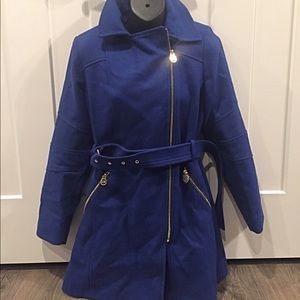 Michael Kors Wool Asymetrical Coat size Medium
